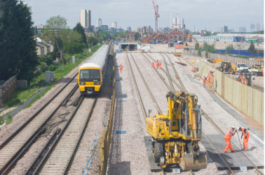 First new Crossrail tracks laid in South East London